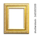 gold picture frames. isolated... | Shutterstock . vector #163102103