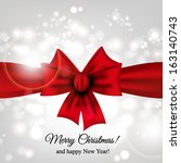 merry christmas and happy new... | Shutterstock .eps vector #163140743