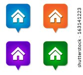 home icon   website button... | Shutterstock .eps vector #163141223