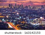 downtown los angeles ...   Shutterstock . vector #163142153