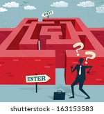 abstract businessman embarks on ... | Shutterstock .eps vector #163153583