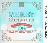 vector festive inscription with ... | Shutterstock .eps vector #163156757