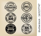 stamp set | Shutterstock .eps vector #163157747