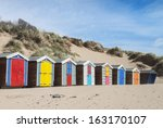 Beach Huts At Saunton Sands ...