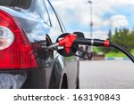 refueling vehicle with gasoline ... | Shutterstock . vector #163190843