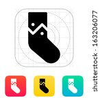 christmas stocking icon. vector ...