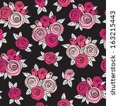 decorative seamless pattern... | Shutterstock .eps vector #163215443