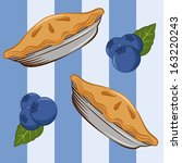 blueberries and pie seamless... | Shutterstock .eps vector #163220243
