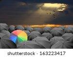 be a different businessman... | Shutterstock . vector #163223417