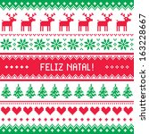 feliz natal card   merry...   Shutterstock .eps vector #163228667