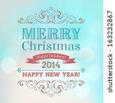 vector festive inscription with ...   Shutterstock .eps vector #163232867