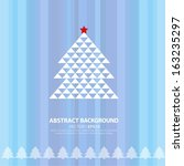 christmas tree on a blue... | Shutterstock .eps vector #163235297