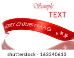 shiny red satin  merry... | Shutterstock . vector #163240613