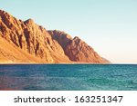 seascape and mountains | Shutterstock . vector #163251347