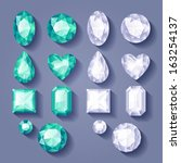 set of realistic jewels.... | Shutterstock .eps vector #163254137