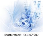 abstract blue over white... | Shutterstock . vector #163264907