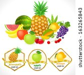 globally available     organic... | Shutterstock .eps vector #163265843