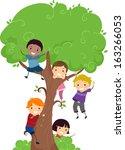 Illustration Of Kids Hanging...