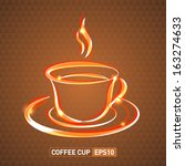 coffee cup background | Shutterstock .eps vector #163274633