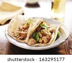 authentic mexican tacos with... | Shutterstock . vector #163295177
