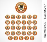30 Days Money Back Guarantee badges icons in 30 languages (eng, he, ar, th, tr, es, sv, sl, sk, ru, ro, pt, pb, pl, no, it, hu, hi, el, de, fr, fi, nl, da, cs, hr, zh, zg, ko, ja).