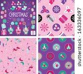 christmas vector elements set... | Shutterstock .eps vector #163336097