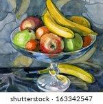 Scenic Still Life Of Fruit