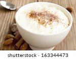 creamy rice pudding with... | Shutterstock . vector #163344473