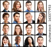 collection of facial expressions | Shutterstock . vector #163377953