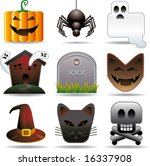halloween utilities. nine... | Shutterstock .eps vector #16337908