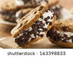 homemade chocolate chip cookie... | Shutterstock . vector #163398833