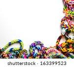 Loom Bracelets On A White...