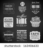 bakery labels and typography ... | Shutterstock .eps vector #163406633
