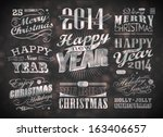 merry christmas greeting card... | Shutterstock .eps vector #163406657