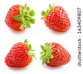 strawberry. collection isolated ... | Shutterstock . vector #163409807