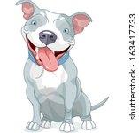 illustration of cute pit bull...