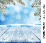 winter background  | Shutterstock . vector #163421603