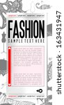 fashion web template   vector... | Shutterstock .eps vector #163431947