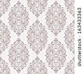 seamless damask pattern  | Shutterstock .eps vector #163433363