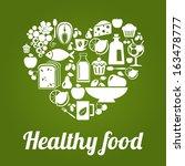 healthy food concept  vintage... | Shutterstock .eps vector #163478777