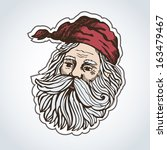 vector illustration with santa... | Shutterstock .eps vector #163479467