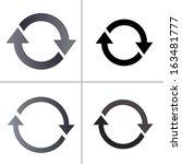 arrow sign reload refresh... | Shutterstock .eps vector #163481777