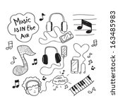 doodle,headphone,headset,icon,instrument,ipod,keyboard,listen,listening,mp3,music,musical,notes,vector
