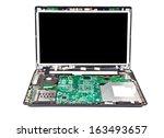 laptop half disassembled.... | Shutterstock . vector #163493657