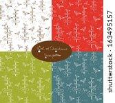 set of christmas patterns | Shutterstock .eps vector #163495157