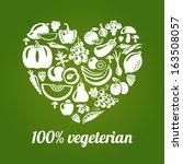 100   vegetarian. concept... | Shutterstock .eps vector #163508057