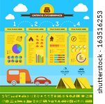 flat camping infographic... | Shutterstock .eps vector #163516253