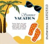 summer design over sand  ...   Shutterstock .eps vector #163525313
