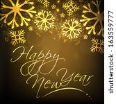 stylish text happy new year... | Shutterstock .eps vector #163559777