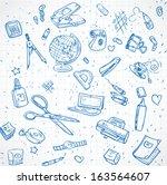 seamless ornament stationery... | Shutterstock .eps vector #163564607